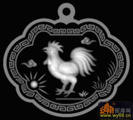 灰度图浮雕图系列                        鸡 竹子 花纹 圆-欧式洋花
